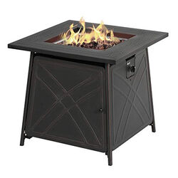 Living Accents  Square  Propane  Fire Pit  25.5 in. H x 28 in. W x 28 in. D Steel
