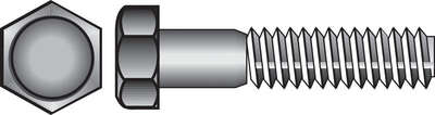 Hillman  5/16 in. Dia. x 1 in. L Hot Dipped Galvanized  Steel  Hex Bolt  100 pk