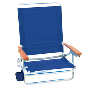 Rio Brands  5 position  Adjustable Blue  Beach  Folding Chair