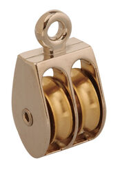 Campbell Chain 3/4 in. Dia. Nickel Copper Ridge Eye Double Sheave Rigid Eye Pulley