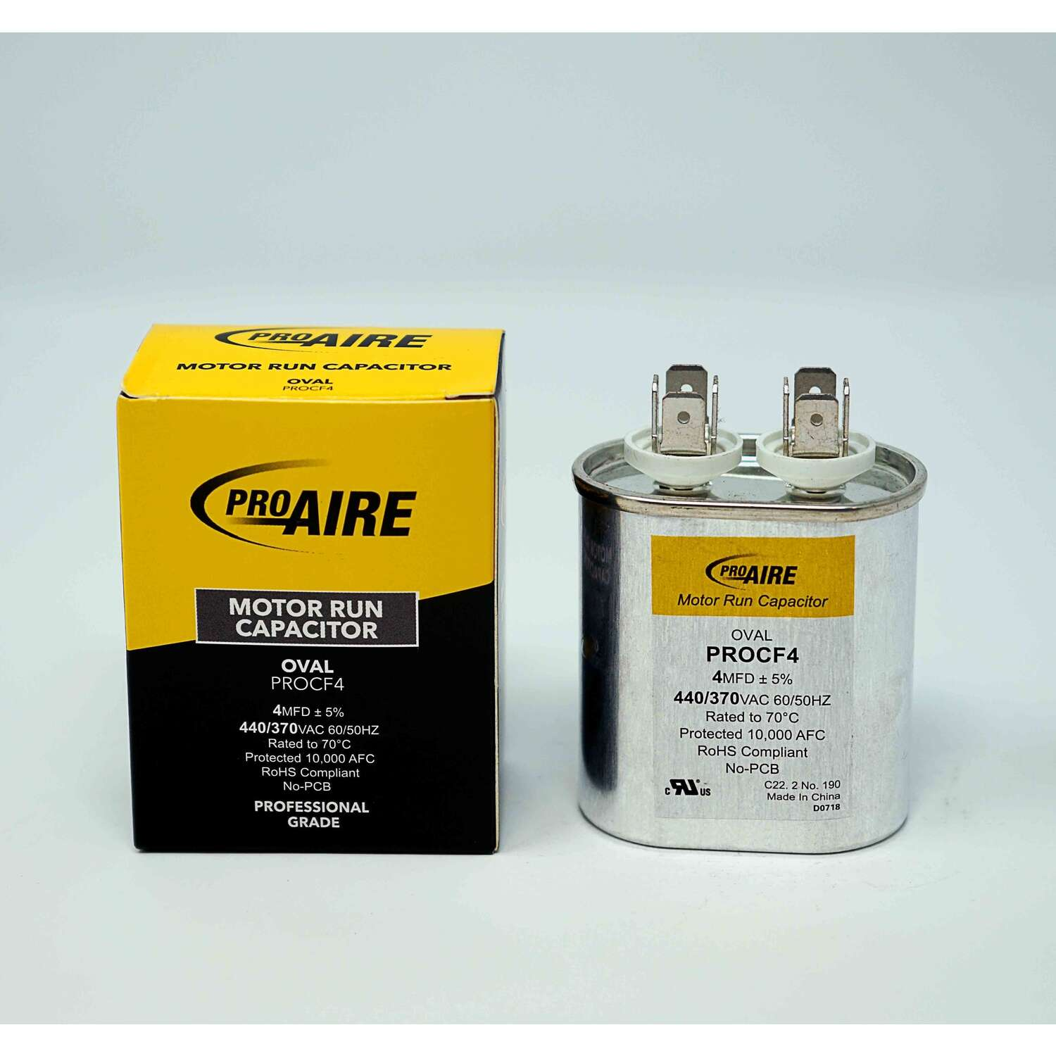 Perfect Aire  ProAire  4 MFD  370 volt Oval Run Capacitor