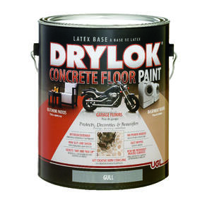 Drylok  Flat  Gull  Latex  Concrete & Garage Floor Paint  1 gal.