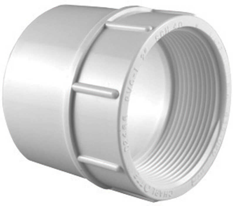 Charlotte Pipe  2-1/2 in. FPT   x 2-1/2 in. Dia. FPT  Pipe Adapter