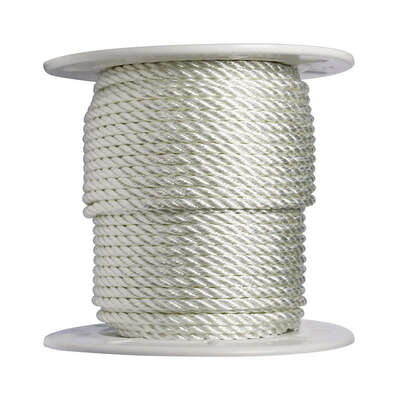 Wellington  3/8 in. Dia. x 300 ft. L White  Twisted  Nylon  Rope