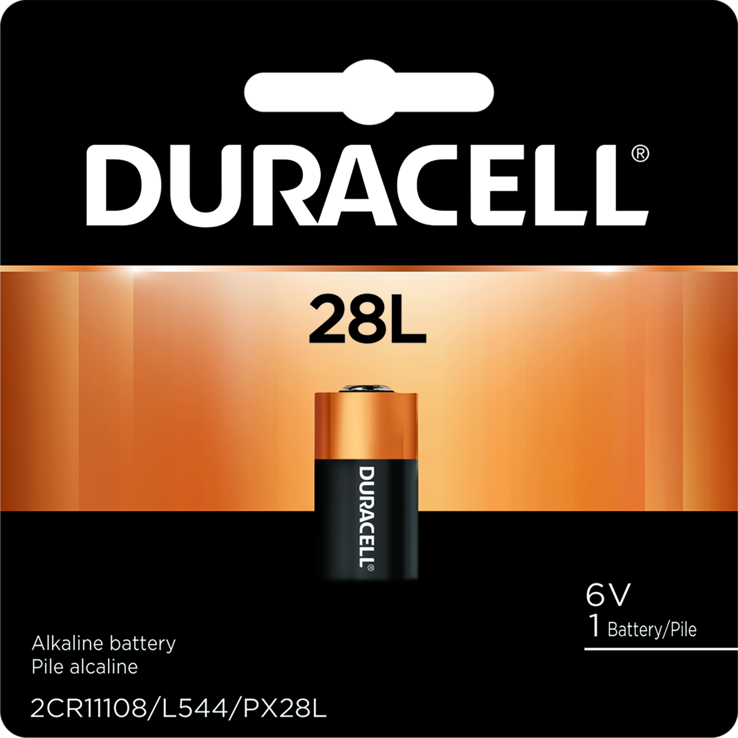 Duracell  Lithium  28L  Camera Battery  PX28LBPK  1 pk
