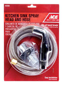 Ace  Silver  Chrome  Metal  Kitchen Faucet Side Spray and Hose Assembly