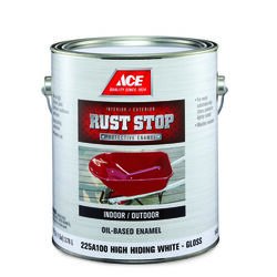 Ace  Rust Stop  Indoor and Outdoor  Gloss  White  Rust Prevention Paint  1 gal.