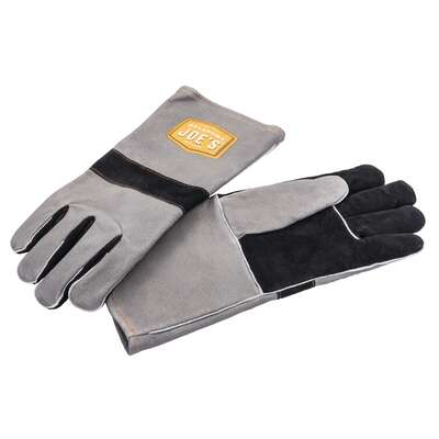 Oklahoma Joe's  Leather  Gray  Grilling Gloves  2 pc.