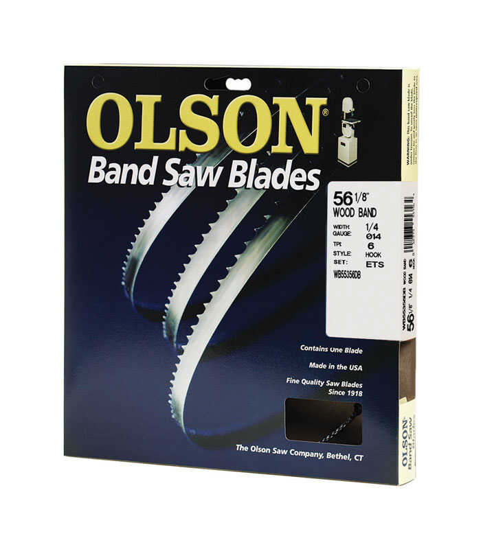 Olson  0.3 in. W x 0.01 in. thick  x 56.1 in. L Carbon Steel  Band Saw Blade  6 TPI Hook teeth 1 pk