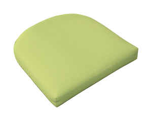 Casual Cushion  Gray/Lime  2.5 in. H x 18 in. W x 18 in. L Seating Cushion  Polyester
