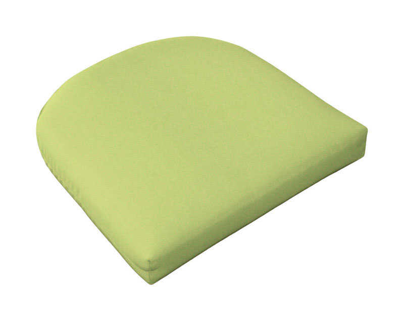 Casual Cushion  Gray/Lime  Polyester  Seating Cushion  2.5 in. H x 18 in. W x 18 in. L