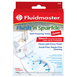 Fluidmaster Flush N' Sparkle No Scent Continuous Toilet Cleaning System 1 display Liquid