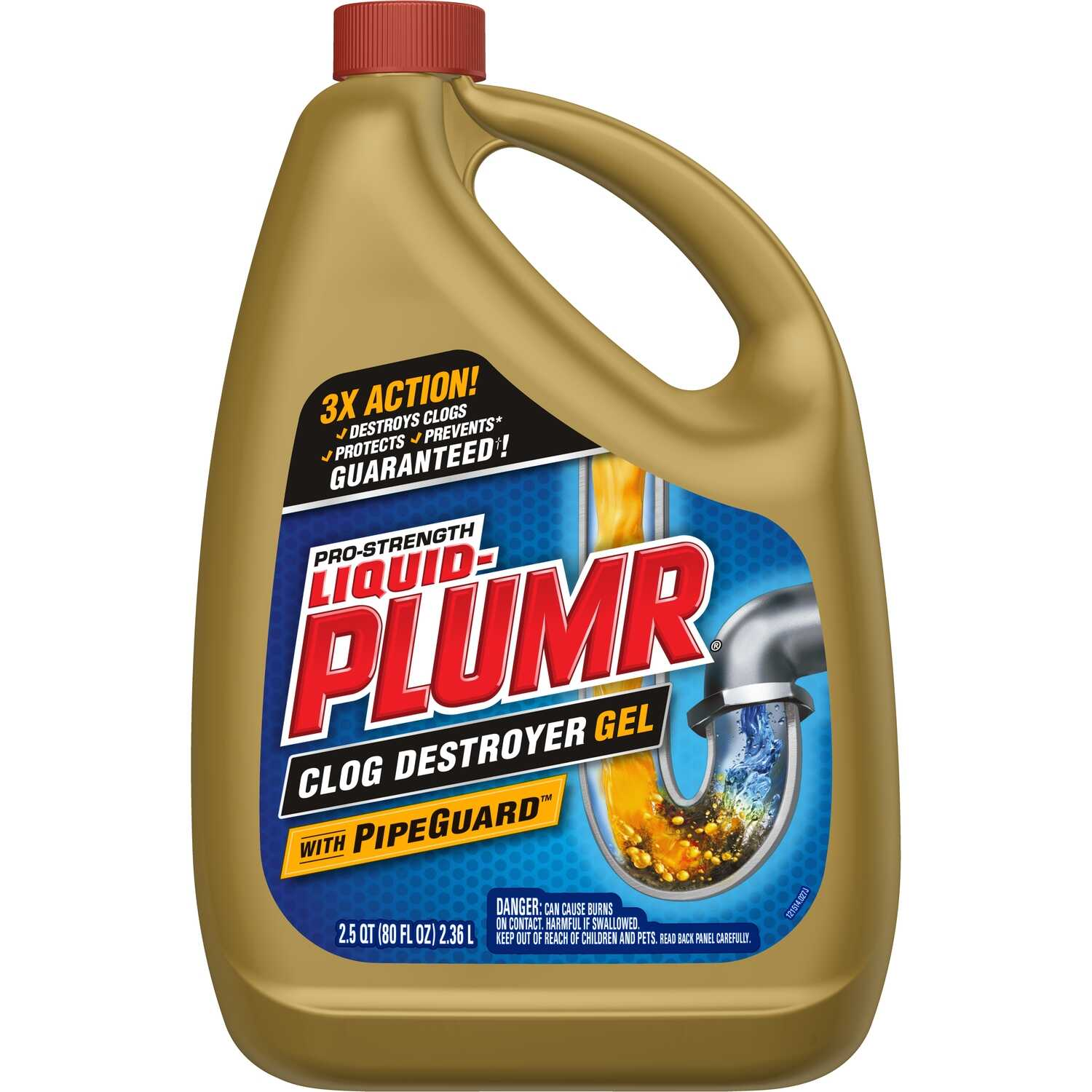 Liquid-Plumr  Full Clog Destroyer  Gel  Clog Remover  80 oz.