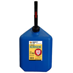 Midwest Can  FlameShield Safety System  Plastic  Kerosene Can  5 gal.