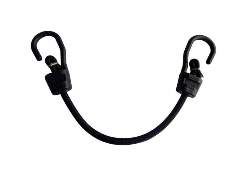 Keeper  Ultra  Black  Bungee Cord  18 in. L x 0.315 in.  1 pk