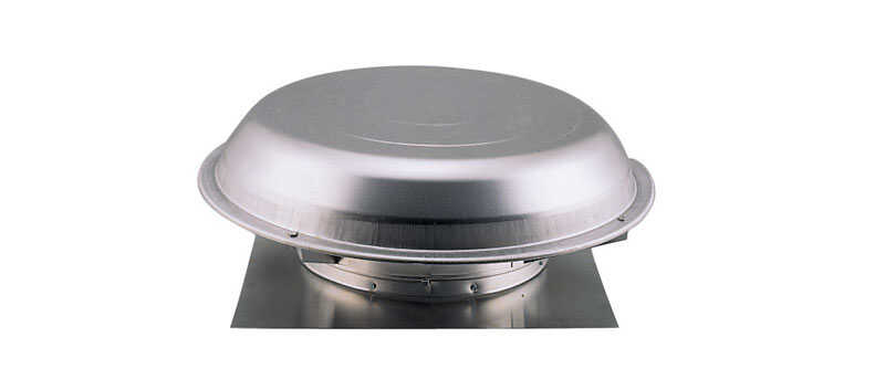 Air Vent  25.6 in. H x 8.6 in. W x 25.3 in. L x 25 in. Dia. Gray  Metal  Power Attic Ventilator