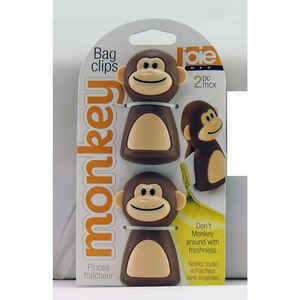 Joie  Monkey  Brow/ Beige  Plastic  Bag Clips  1 pk