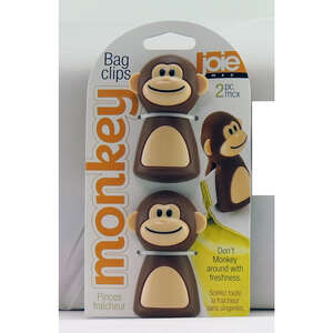 Joie  Monkey  Brow/ Beige  Bag Clips
