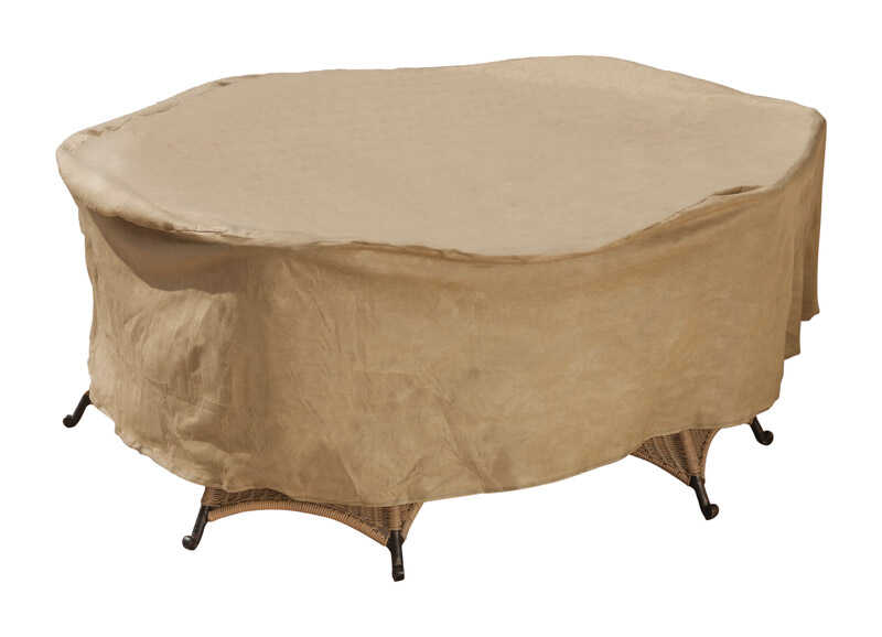 Budge  30 in. H x 112 in. W Tan  Polyethylene  Set Cover