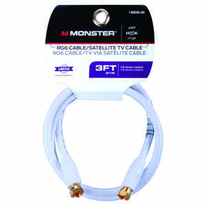 Monster Cable  Just Hook It Up  Video Coaxial Cable  3 ft.
