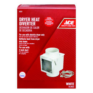 Ace  4 in. Dia. x 4 in. L Aluminum  Black/Silver  Heat Diverter