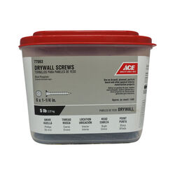 Ace  No. 6   x 1-1/4 in. L Phillips  Drywall Screws  5 lb. 1417 pk