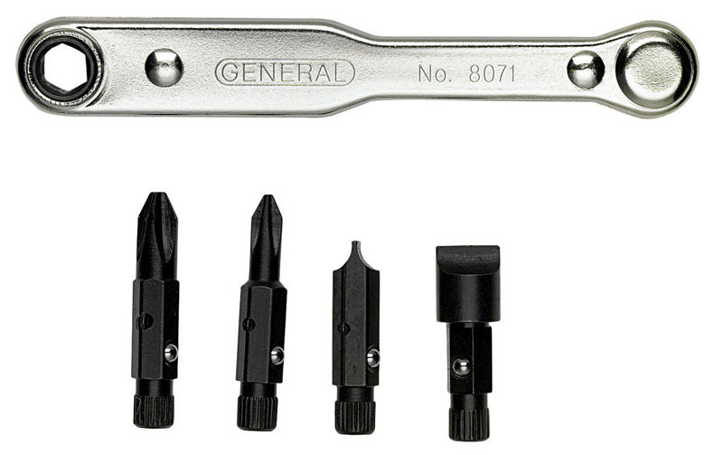 General Tools  5 pc. Ratcheting Steel  Offset Screwdriver Set