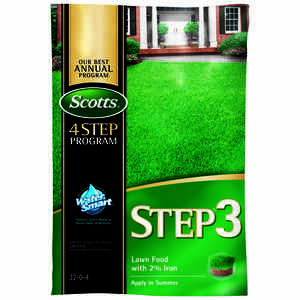 Scotts  Step 3  32-0-4  Lawn Food  For All Grass Types 12.5 lb.