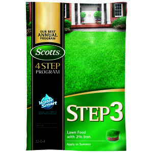 Scotts  Step 3  32-0-4  Lawn Food  For All Grass Types