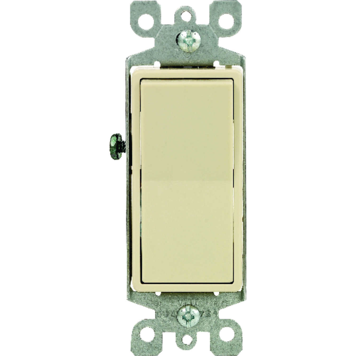 Leviton  15 amps Rocker  Switch  Ivory  1 pk Decora