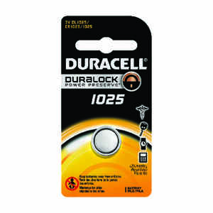Duracell  1025  Lithium  Watch/Electronic Battery  1 pk Carded