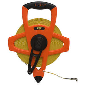 Lufkin  0.5 in. W x 300 ft. L Reel Rewind Tape Measure  1 pk Yellow
