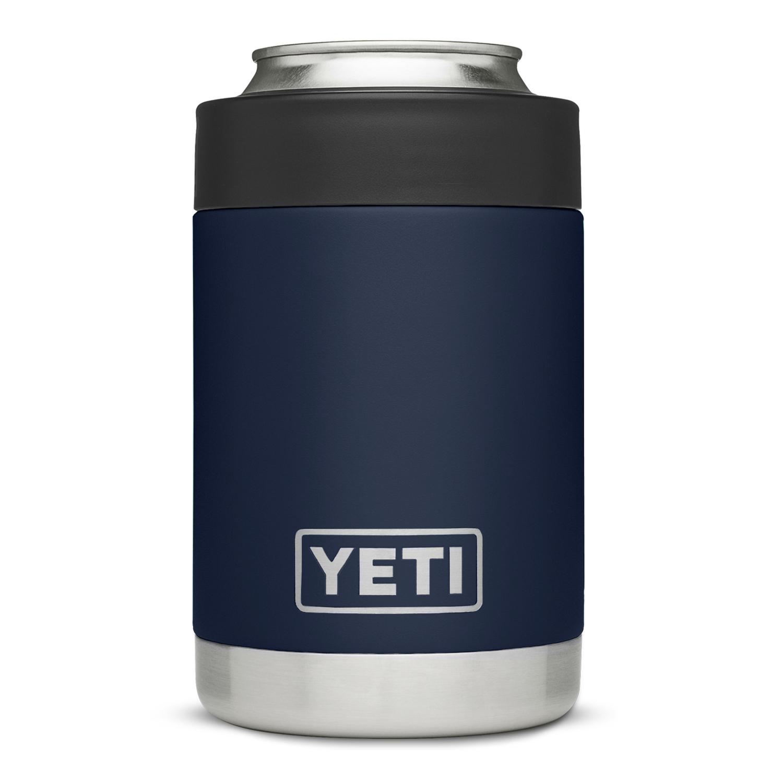 YETI Rambler Colster Navy Blue Stainless Steel Beverage Koozie