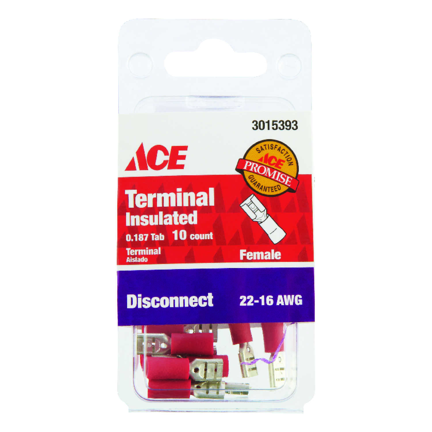 Ace  Female Disconnect  22-16 AWG 6