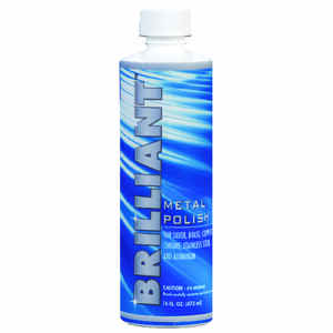Brilliant  No Scent Metal Polish  14 oz. Liquid