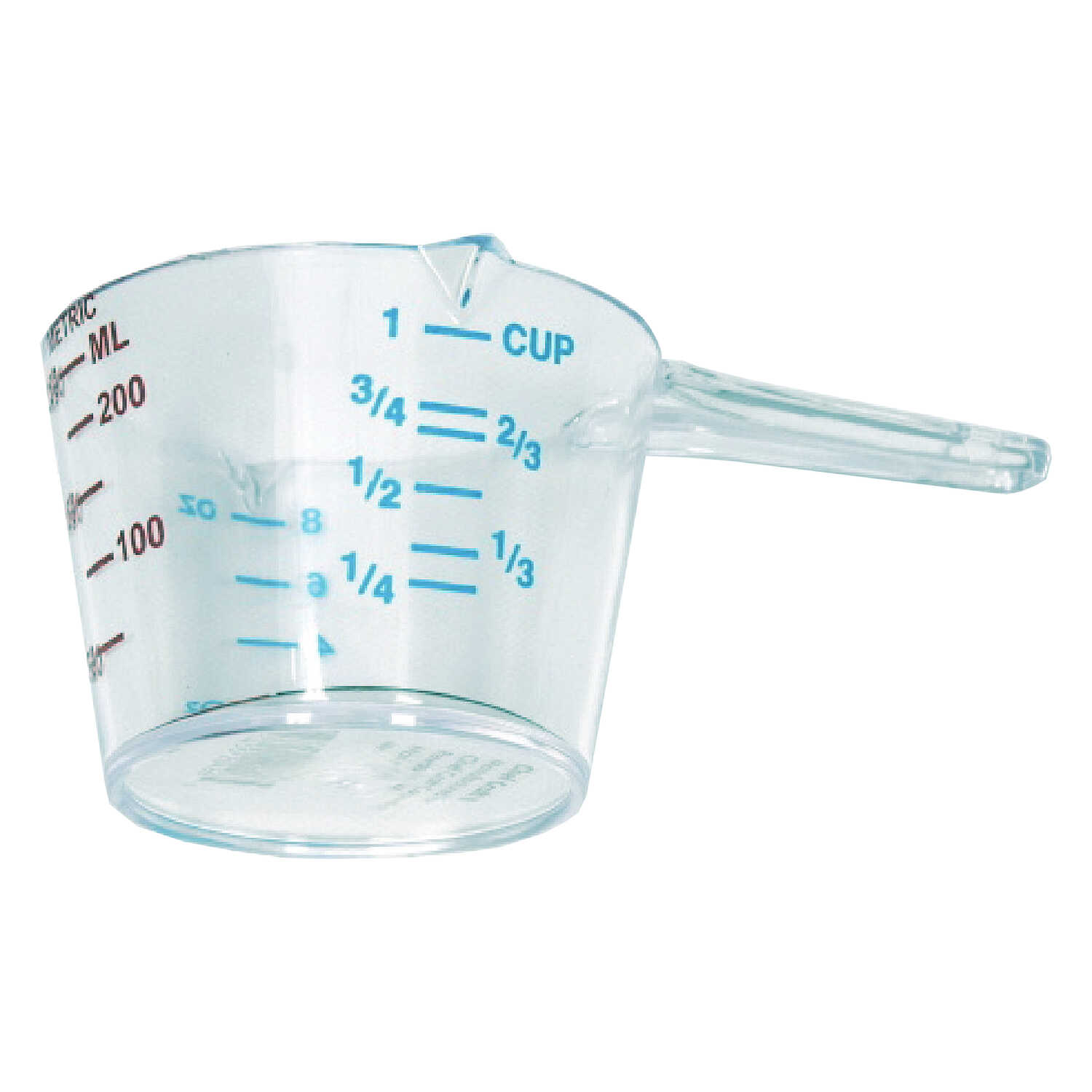 Chef Craft  1 cups Plastic  Clear  Measuring Cup