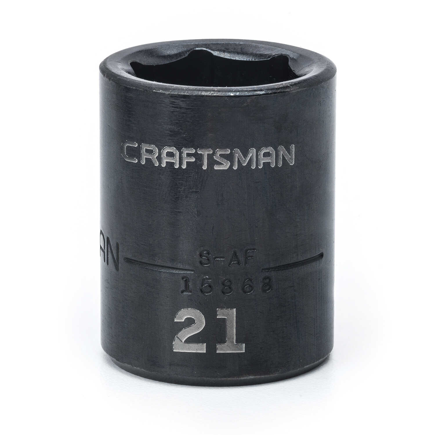 Craftsman  21 mm  x 1/2 in. drive  Metric  6 Point Standard  Impact Socket  1 pc.