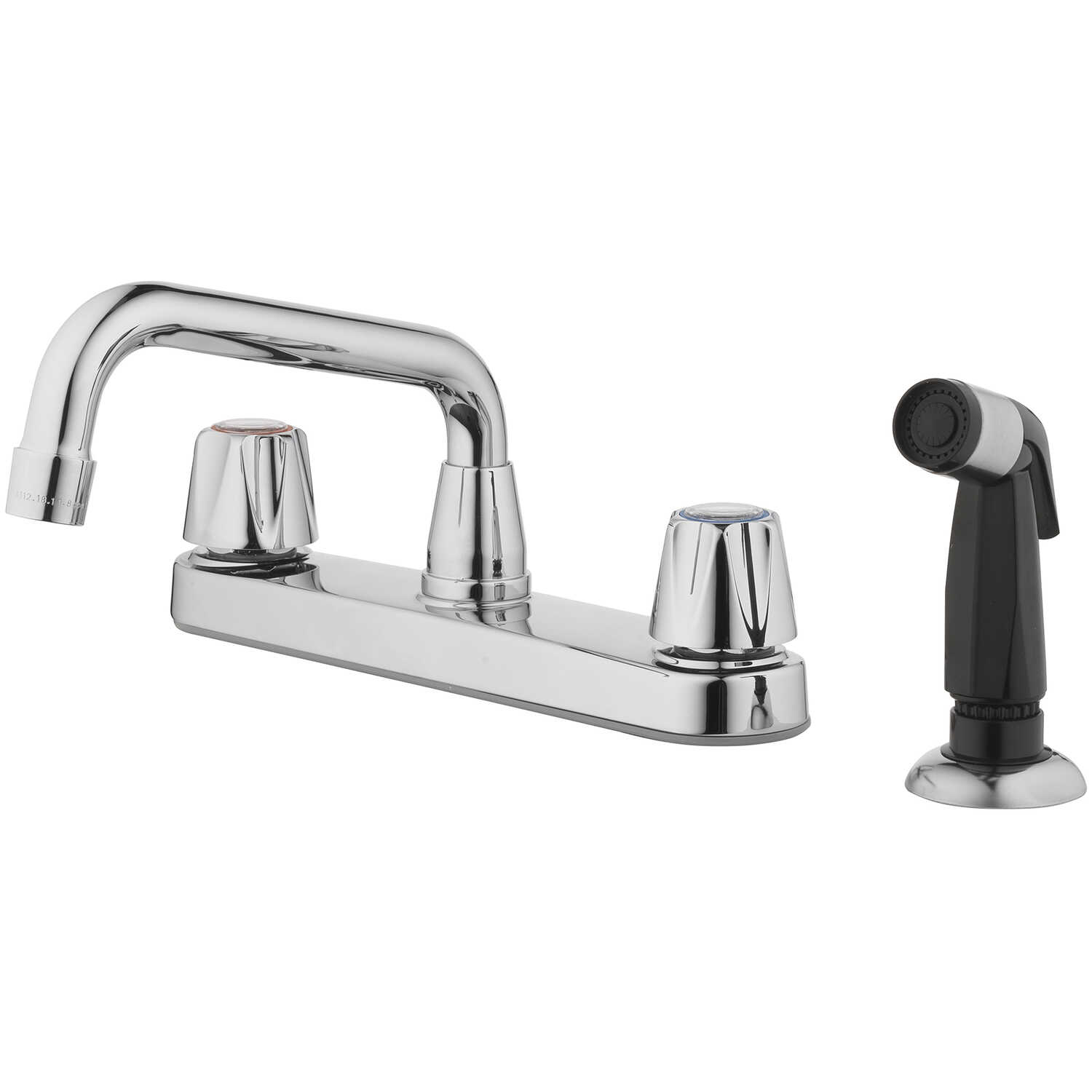 OakBrook  Compression  2 Handle Kitchen  Two Handle  Chrome  Kitchen Faucet  Side Sprayer Included