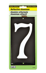 Hy-Ko 3-1/2 in. Reflective White Aluminum Nail-On Number 7 1 pc.