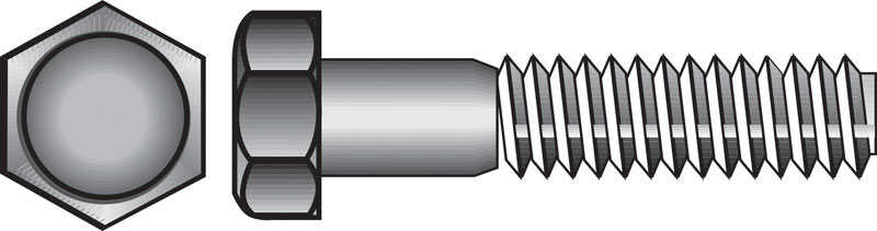 HILLMAN  1/2 in. Dia. x 2-1/2 in. L Zinc Plated  Steel  Hex Bolt  50 box