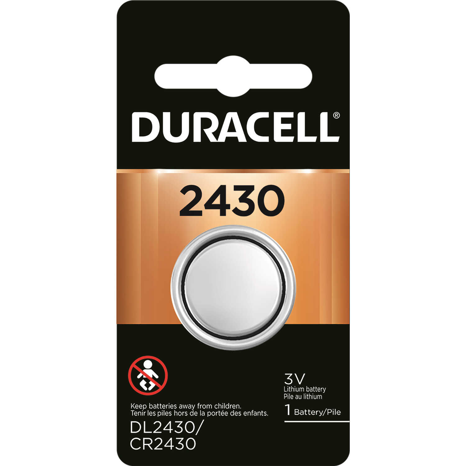 Duracell  Lithium  2430  Medical Battery  3 volt 1 pk