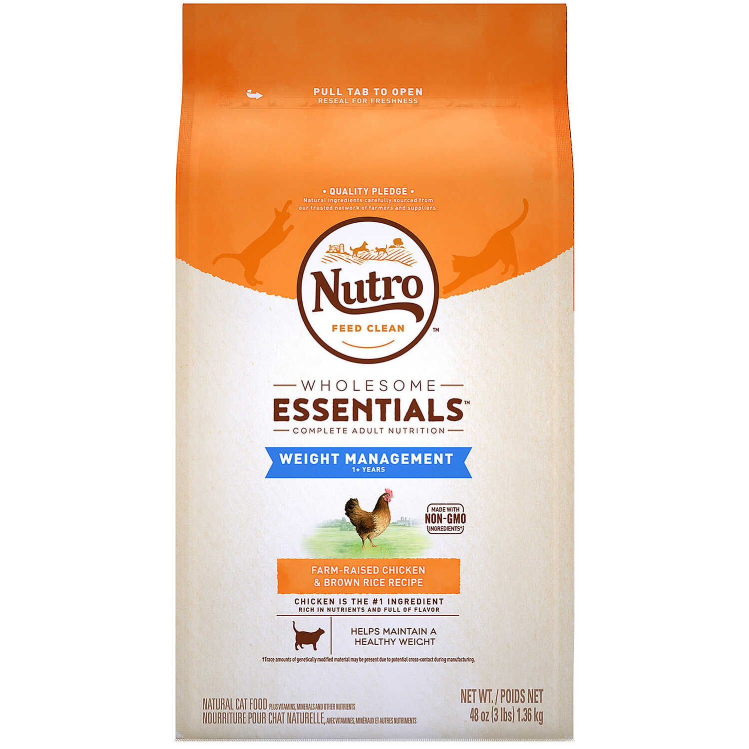 Nutro  Wholesome Essentials  Chicken and Brown Rice  Dry  Food  3 lb.