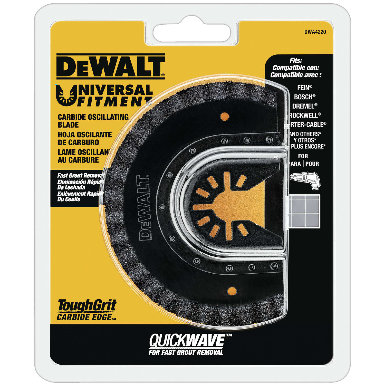 DeWalt  Carbide Grit  Fast Cut  Oscillating Grout Removal Blade  1 pc.