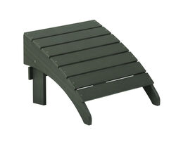 Living Accents  1 pc. Slate  Resin Frame Adirondack  Ottoman