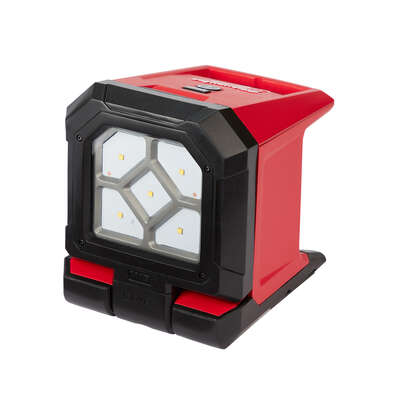 Milwaukee  Rover  1500 lumens LED  Battery Operated  Stand (H or Scissor)  Flood Light