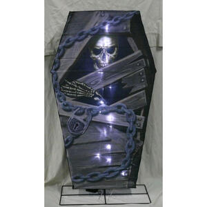 Citi-Talent  LED B/O Coffin  Lighted Halloween Decoration  48 in. H x 4 in. W 1 pk