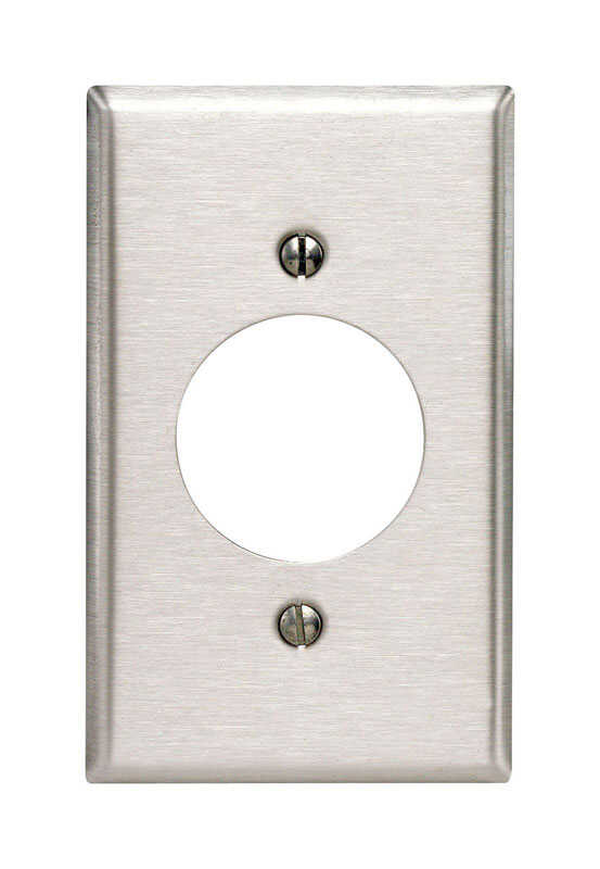 Leviton  Commercial  Silver  1 gang Stainless Steel  Outlet  Wall Plate  1 pk