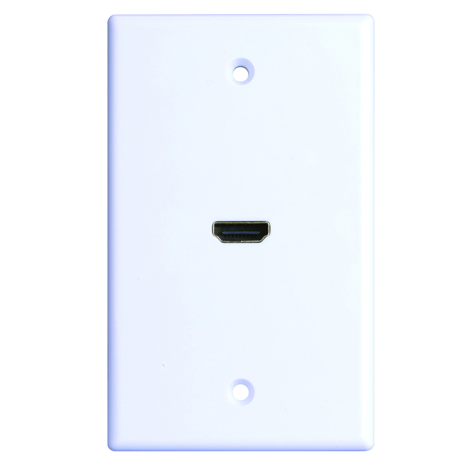 Monster Cable Just Hook It Up White 1 gang Home Theater Wall Plate 1 ...