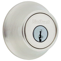 Kwikset  Satin Nickel  Metal  Deadbolt