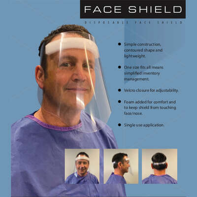 Lime Media Disposable Face Shield Clear Lens 1 pc.